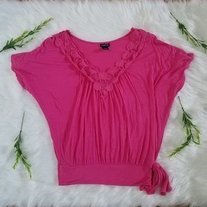 Rue 21 dolman sleeve blouse in bright pink